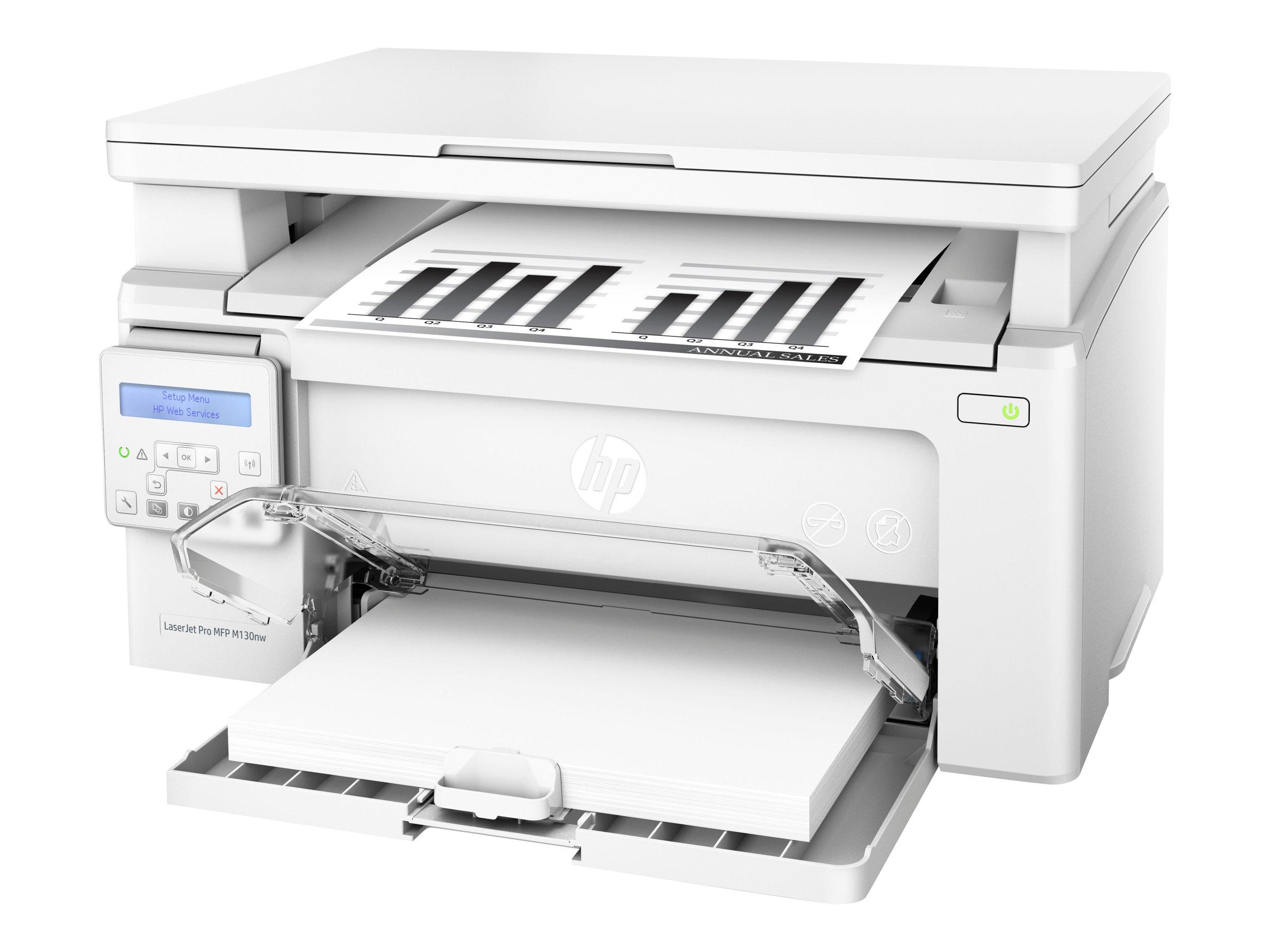 HP LaserJet Pro MFP M130nw - Multifunktionsdrucker - s/w - Laser - 215.9 x 297 mm (Original) - A4/Legal (Medien)