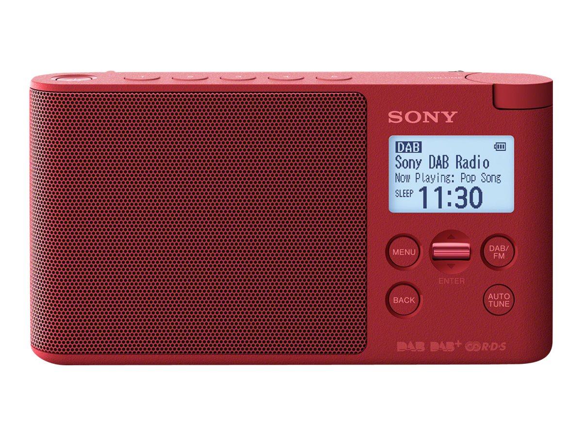 Sony XDR-S41D - Tragbares DAB-Radio - 0.65 Watt - Rot