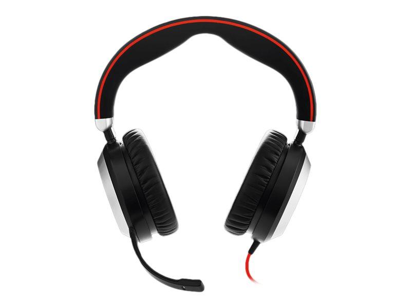 Jabra Evolve 80 Stereo Replacement - Headset - Full-Size - kabelgebunden - aktive Rauschunterdrückung - 3,5 mm Stecker