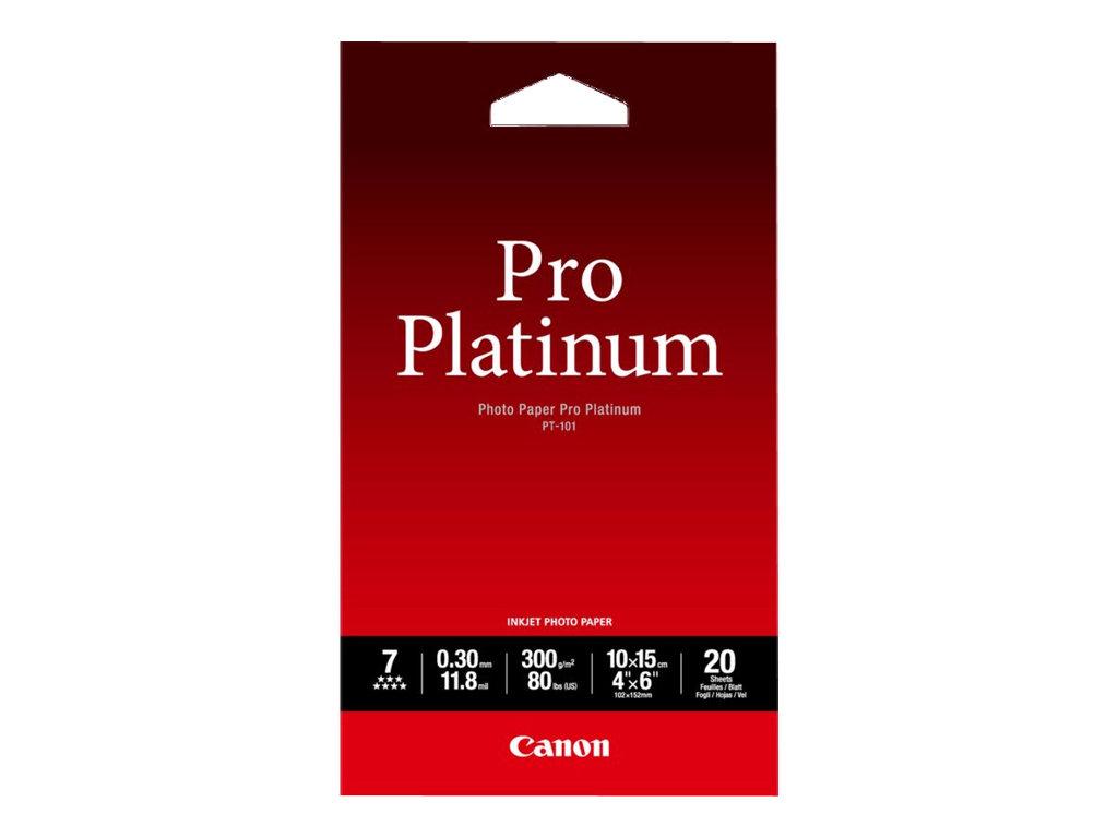 Canon Photo Paper Pro Platinum - 100 x 150 mm - 300 g/m² - 20 Blatt Fotopapier - für PIXMA iP3600, MP240, MP480, MP620, MP980