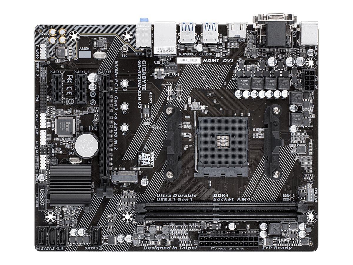 Gigabyte GA-A320M-S2H V2 - 1.1 - Motherboard - micro ATX - Socket AM4 - AMD B350