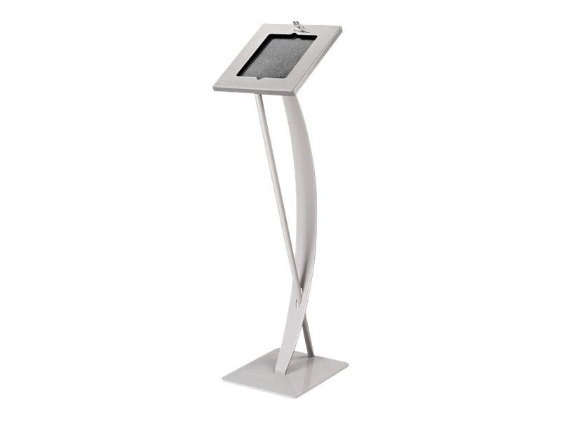 HAGOR TSG-Stand Pro - Aufstellung für Tablett - verriegelbar - Silber - Bodenaufstellung