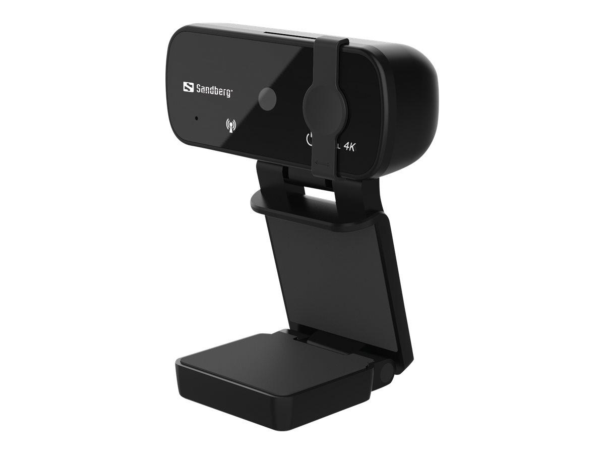 Sandberg USB Webcam Pro+ 4K - Web-Kamera - Farbe - 8 MP - 3264 x 2448 - feste Brennweite