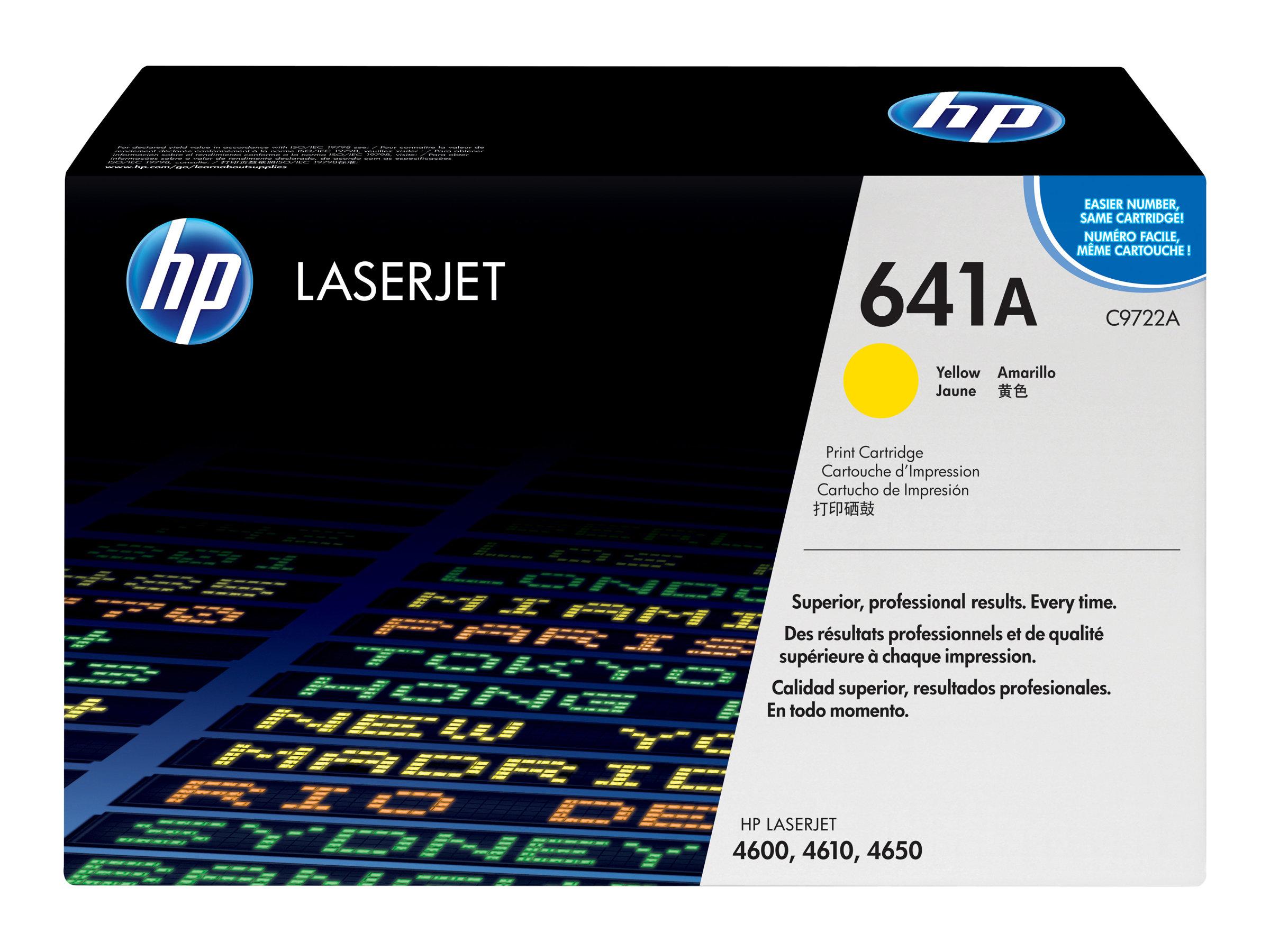 HP 641A - Gelb - Original - LaserJet - Tonerpatrone (C9722A) - für Color LaserJet 4600, 4610, 4650