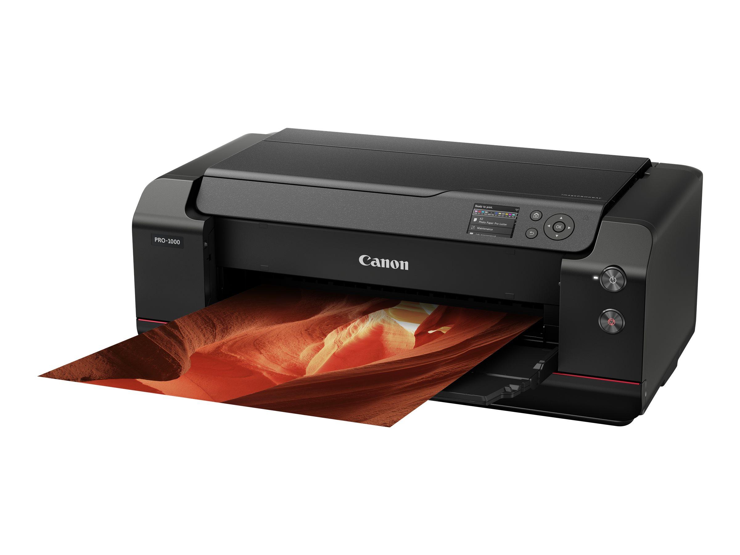 Canon imagePROGRAF PRO-1000 - Drucker - Farbe - Tintenstrahl - 431.8 x 558.8 mm bis zu 3.58 Min./Seite (Farbe) - USB 2.0, LAN, W