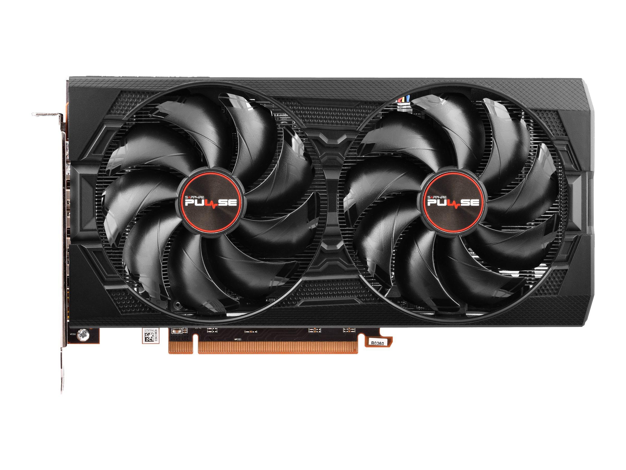 Sapphire Pulse Radeon RX 5500 XT - Grafikkarten - Radeon RX 5500 XT - 8 GB GDDR6 - PCIe 4.0 - HDMI, 3 x DisplayPort