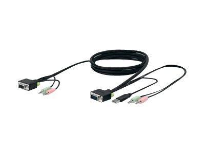 Belkin SOHO KVM Replacement Cable Kit - Tastatur- / Video- / Maus- / Audio-Kabel - USB, HD-15 (VGA), Stereo Mini-Klinkenstecker