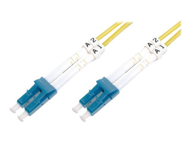 DIGITUS - Patch-Kabel - LC/APC Einzelmodus (M) bis LC/APC Einzelmodus (M) - 3 m - Glasfaser - 9/125 Mikrometer