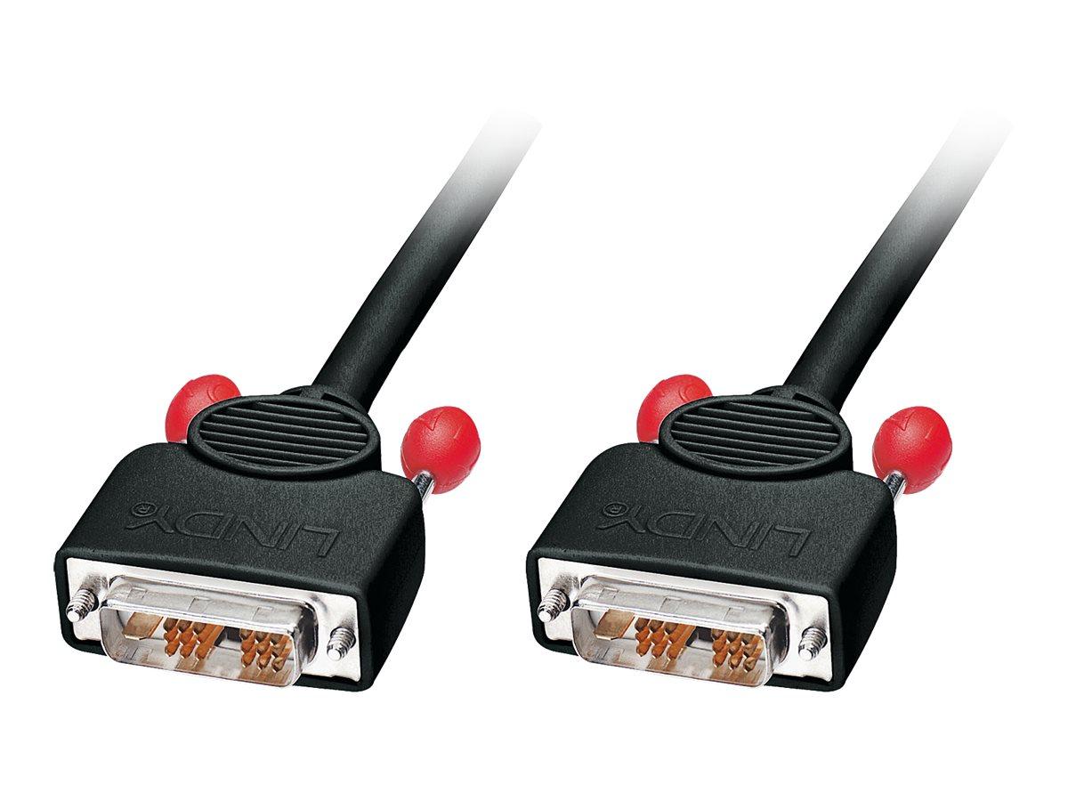 Lindy - DVI-Kabel - Single Link - DVI-D (M) bis DVI-D (M) - 5 m - Daumenschrauben