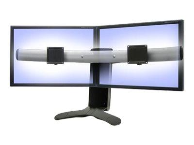 Ergotron LX Widescreen Dual Display Lift Stand - Aufstellung für drei kleinere Bildschirme oder zwei grössere Bildschirme - Schw