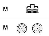 Cisco - Netzwerkkabel - RJ-45 (M) bis BNC (M) - STP