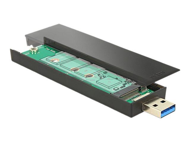 Delock - Speichergehäuse - M.2 - SATA 6Gb/s - 600 MBps - USB 3.1 (Gen 2)