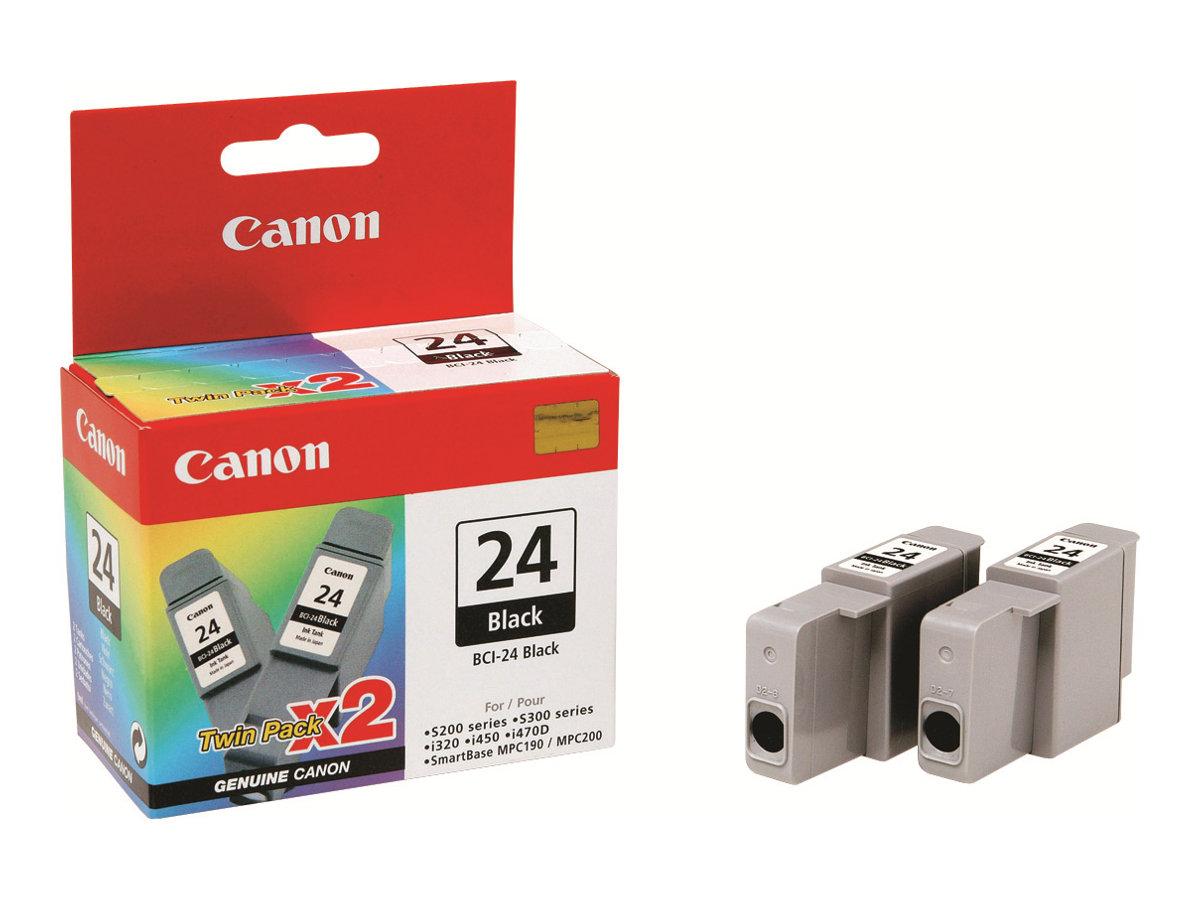 Canon BCI-24BK - Schwarz - Original - Blister mit Diebstahlsicherung - Tintenbehälter - für BJ-S200, S330; i45X; PIXMA iP1000, i