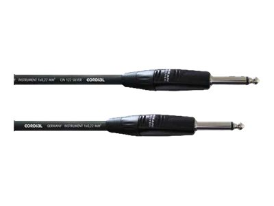 Cordial - Audiokabel - Mono-Stecker (M) bis Mono-Stecker (M) - 6 m - Schwarz