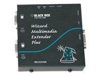 Black Box Wizard Multimedia Extender Plus Dual Video Receiver with integrated DeSkew - Serielle Video-/Audio-Erweiterung - bis z