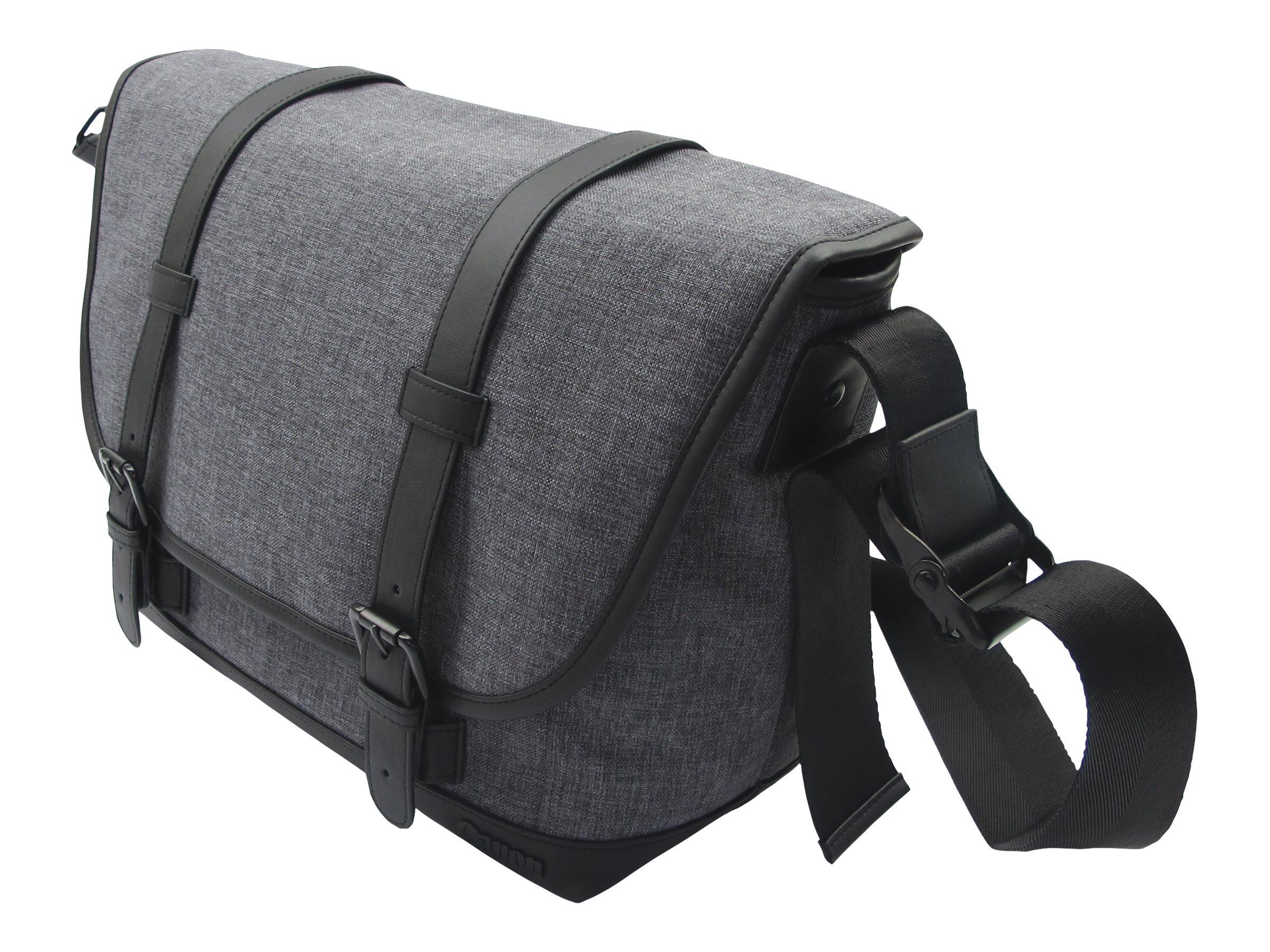 Canon Messenger Bag MS10 - Schultertasche für Kamera mit Objekiven und Tablet - Polyester, Polyurethan - Grau - für EOS 2000D, 4