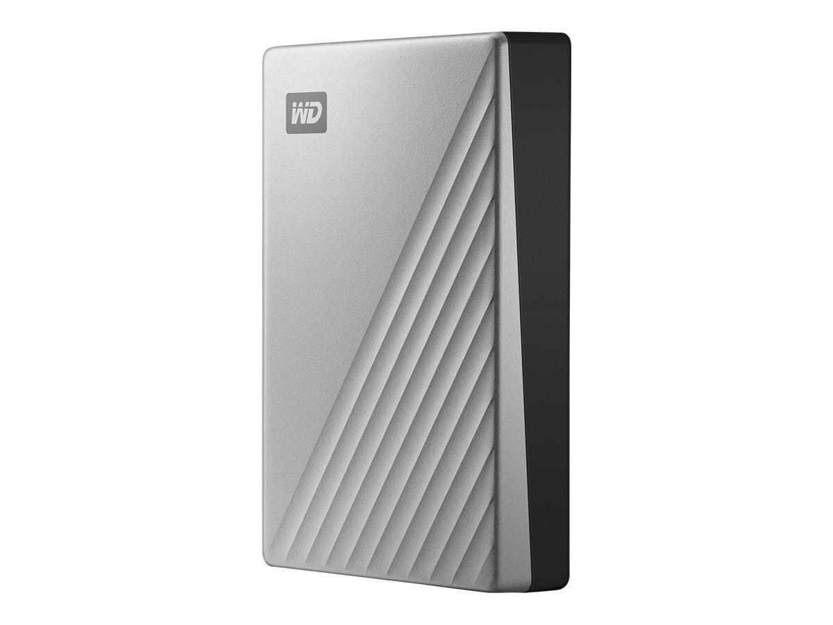 WD My Passport Ultra for Mac WDBPMV0040BSL - Festplatte - verschlüsselt - 4 TB - extern (tragbar) - USB 3.0 (USB-C Steckverbinde