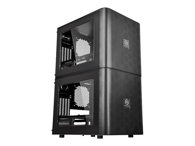 Thermaltake Core V21 - Tower - micro ATX - ohne Netzteil (PS/2) - Schwarz - USB/Audio
