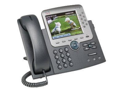 Cisco Unified IP Phone 7975G - VoIP-Telefon - SCCP, SIP - Silber, Dunkelgrau - mit 1 x Benutzerlizenz