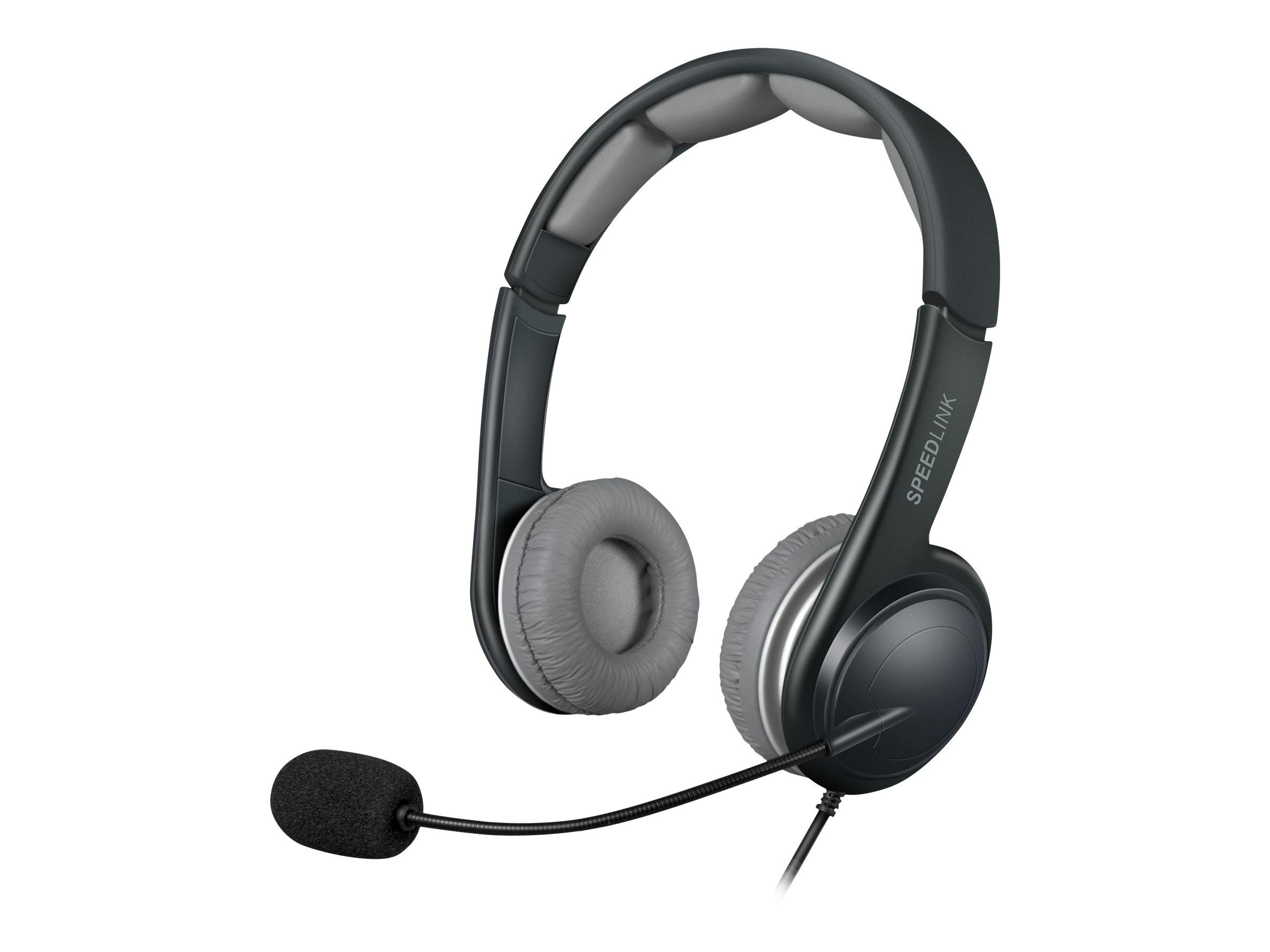 SPEEDLINK SONID - Headset - On-Ear - kabelgebunden - USB - Grau, Schwarz