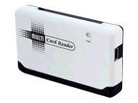 ROLINE Multi Card Reader USB 2.0 - Kartenleser (CF II, MS, MS PRO, Microdrive, MMC, SD, SM, MS Duo, MS PRO Duo, miniSD, CF, RS-M