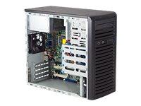 Supermicro SC731 i-403B - Mini Tower - micro ATX 400 Watt - Schwarz - USB