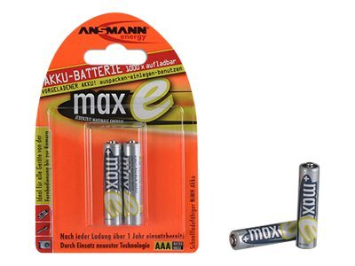 ANSMANN maxE - Batterie 2 x AAA - NiMH - (wiederaufladbar) - 800 mAh