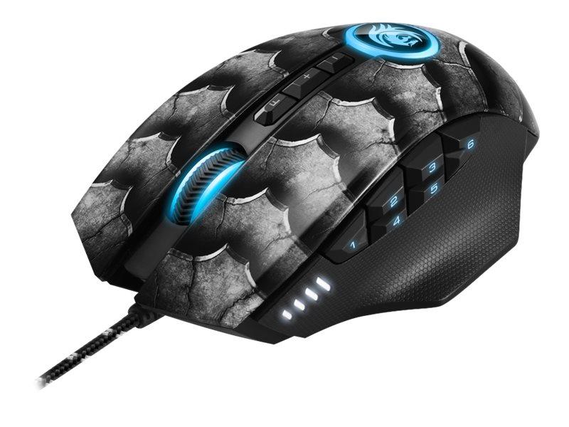 Sharkoon Drakonia II - Maus - optisch - 12 Tasten - kabelgebunden - USB