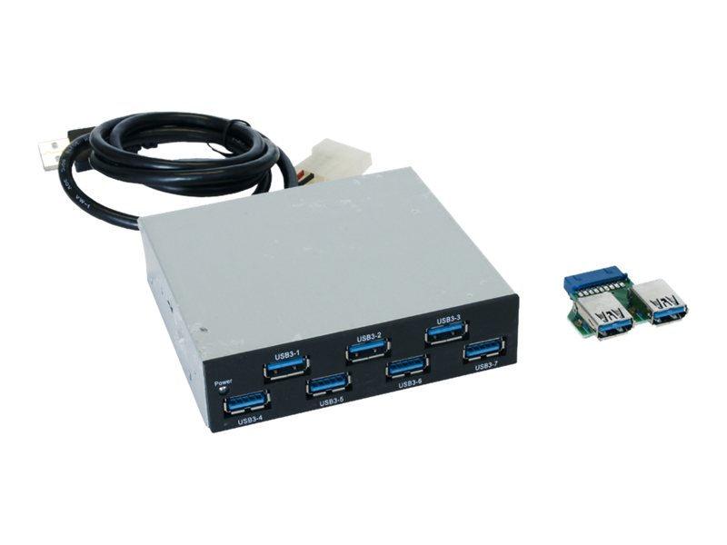 Exsys Ex 1167 - Hub - 7 x SuperSpeed USB 3.0 - Plugin-Modul