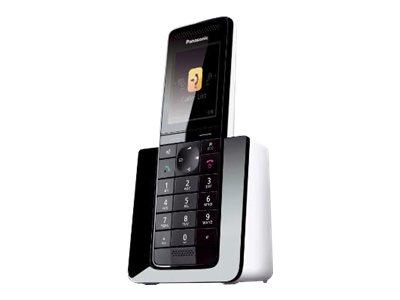 Panasonic KX-PRSA10 - Schnurloses Erweiterungshandgerät mit Rufnummernanzeige/Anklopffunktion - DECT\GAP - Schwarz, weiss