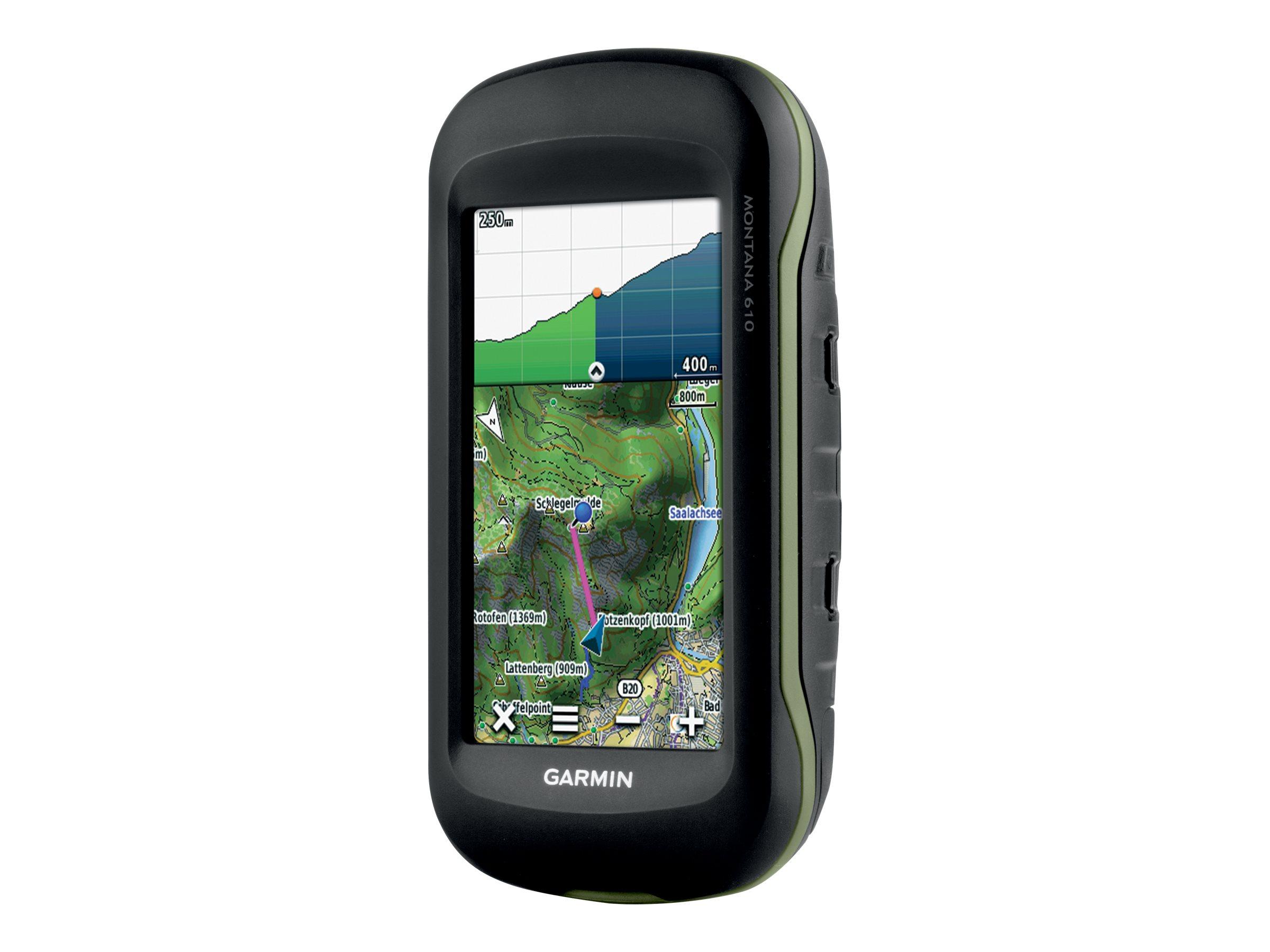Garmin Montana 610 - GPS-/GLONASS-Navigationssystem - Wandern 4 Zoll Breitbild