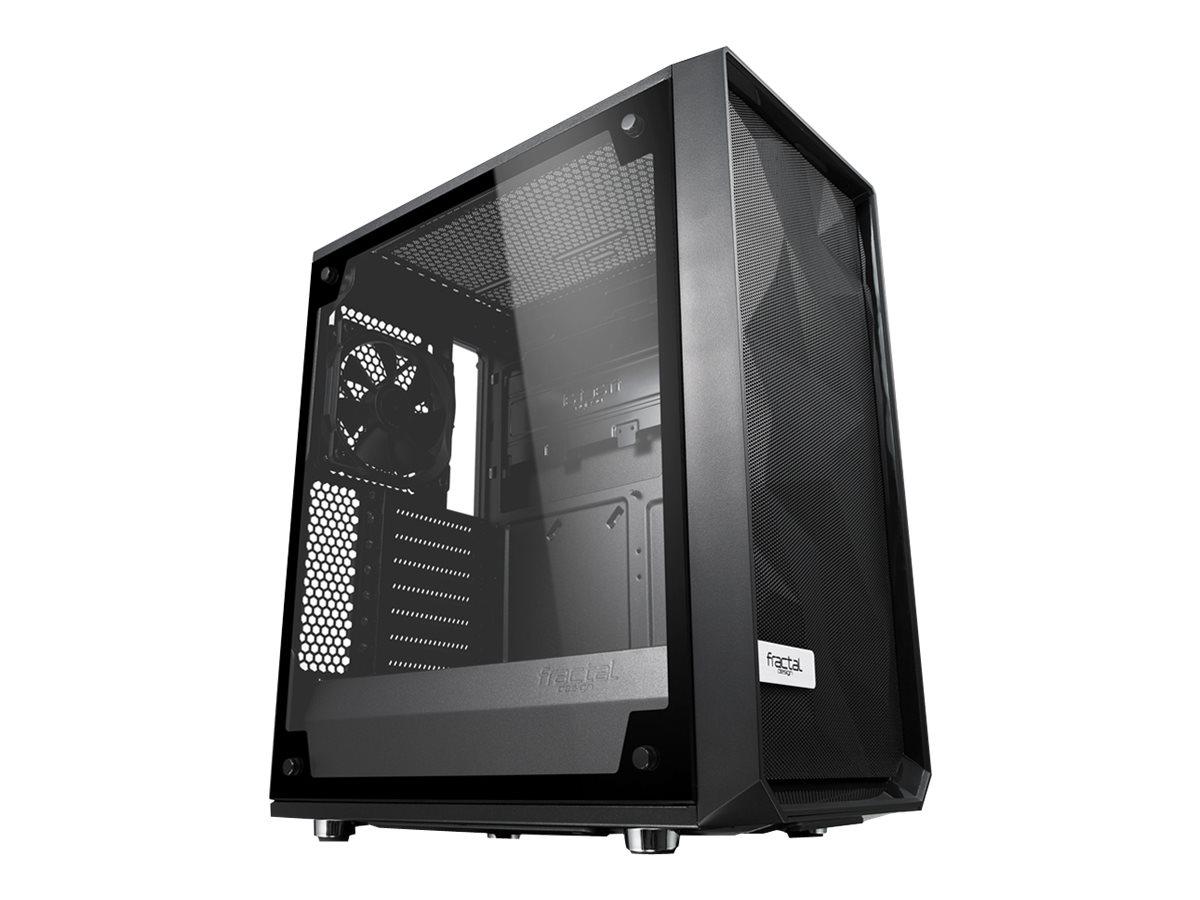 Fractal Design Meshify C - TG - Midi Tower - ATX - ohne Netzteil (ATX) - Schwarz