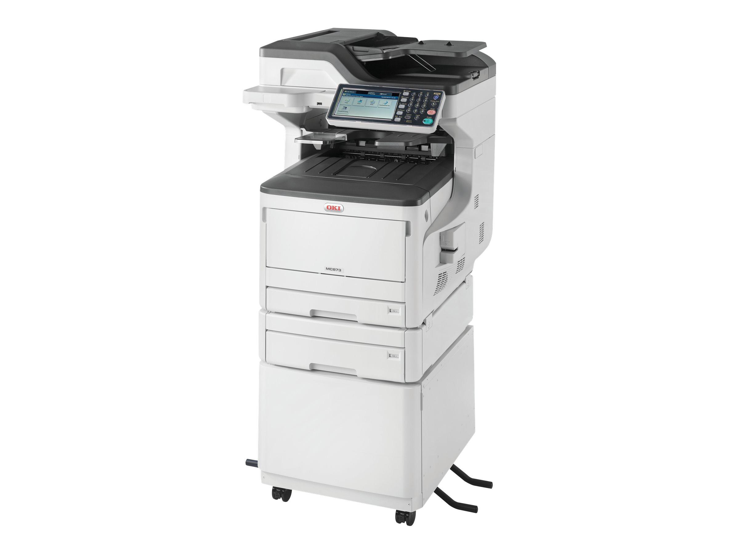 OKI MC873DNCT - Multifunktionsdrucker - Farbe - LED - 297 x 431.8 mm (Original) - A3 (Medien)