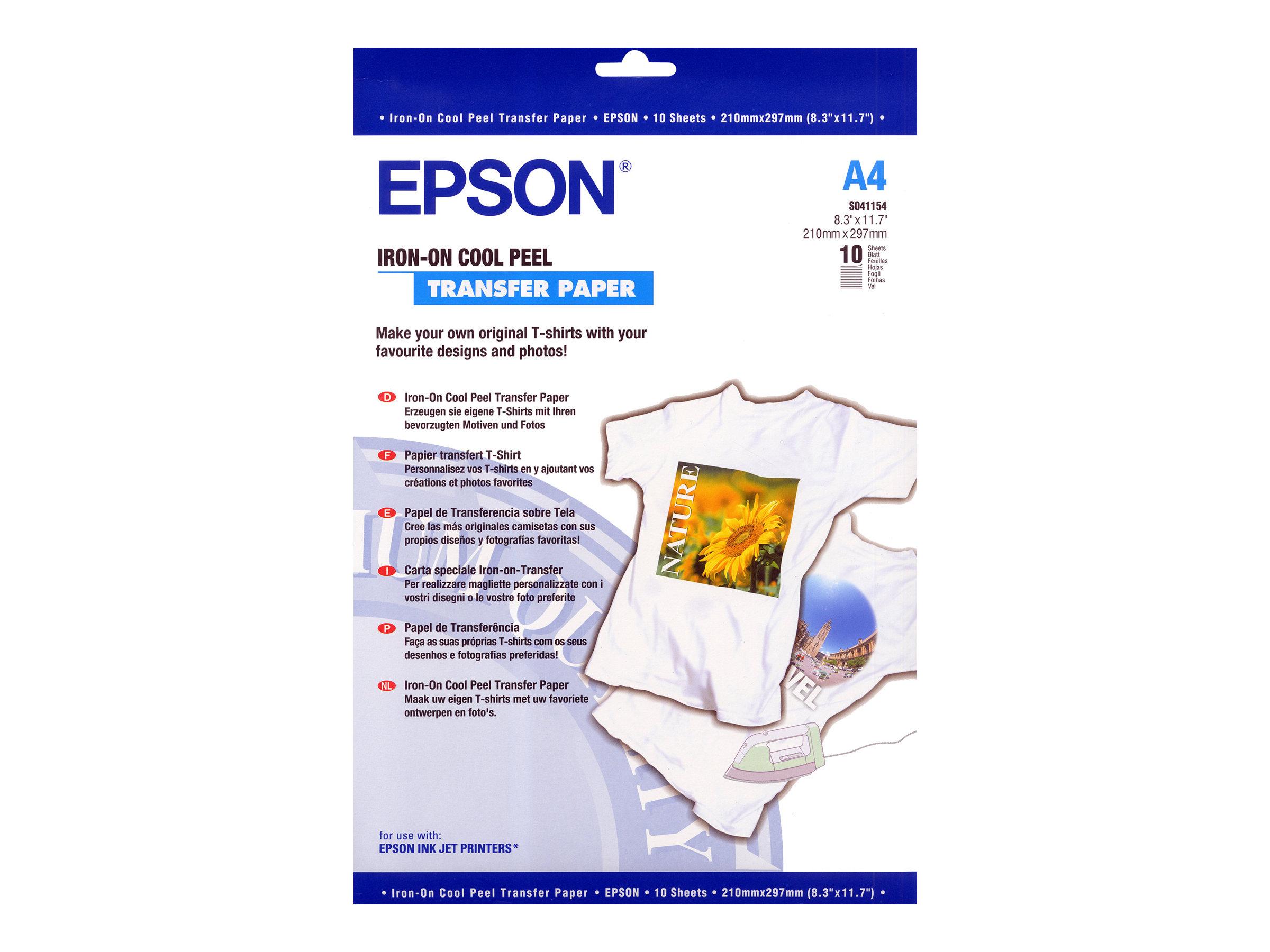 Epson Cool Peel T-Shirt - A4 (210 x 297 mm) 10 Stck. Transferpapier zum Aufbügeln - für Expression Home HD XP-15000; Expression