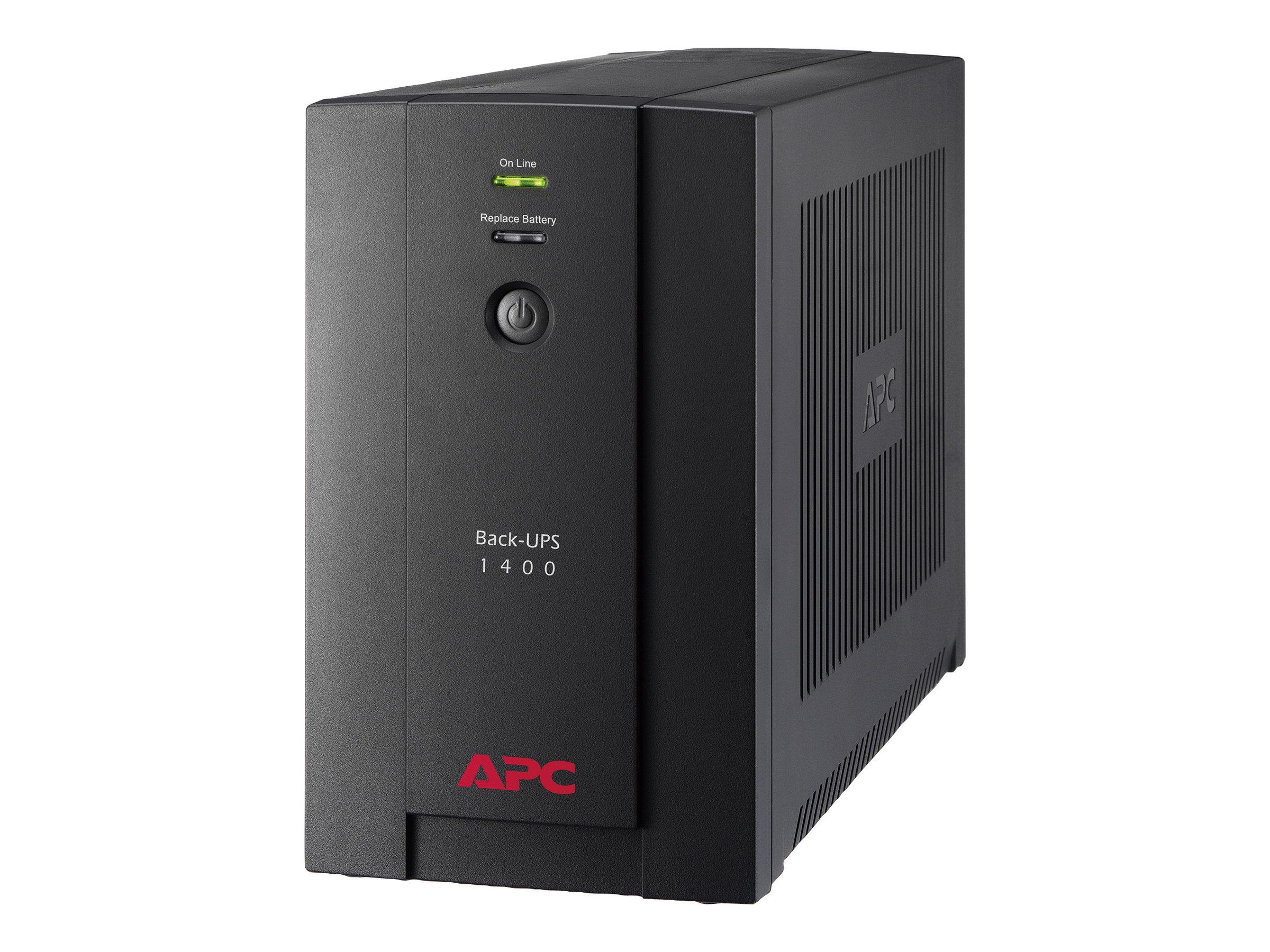 APC Back-UPS 1400VA - USV - Wechselstrom 230 V - 700 Watt - 1400 VA - USB