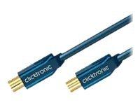 ClickTronic Casual Series - HF-Kabel - F-Stecker (M) bis F-Stecker (W) - 2 m - doppelt abgeschirmtes Koaxialkabel - 95 dB