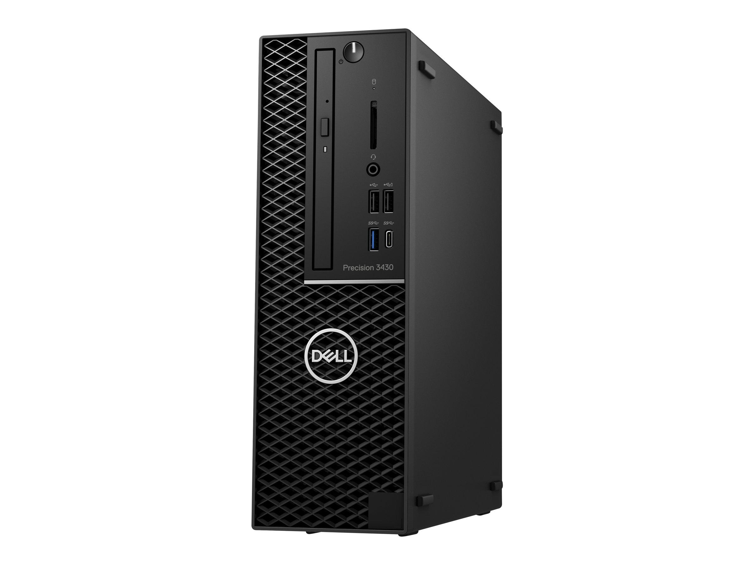 Dell Precision 3430 Small Form Factor - SFF - 1 x Core i7 8700 / 3.2 GHz - RAM 8 GB - SSD 256 GB - DVD-Writer