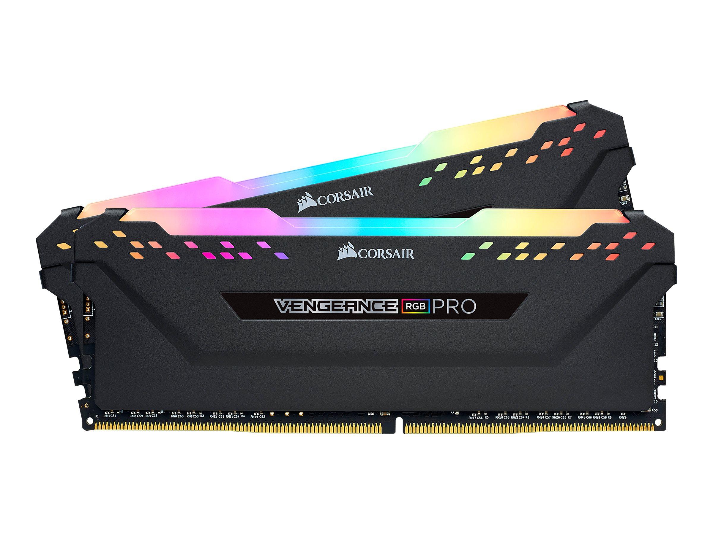 CORSAIR Vengeance RGB PRO - DDR4 - 32 GB: 2 x 16 GB - DIMM 288-PIN - 3200 MHz / PC4-25600 - CL16