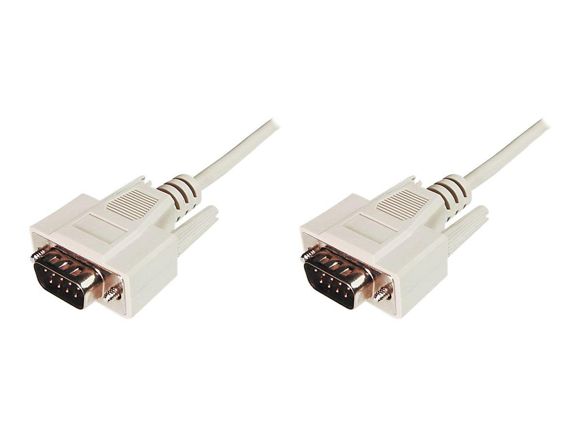 ASSMANN - Kabel seriell - DB-9 (M) bis DB-9 (M) - 2 m - geformt - beige