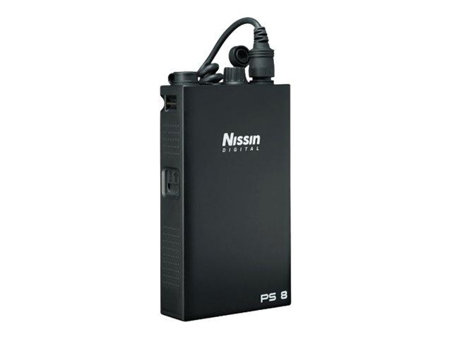 Nissin Power Pack Power Pack PS 8 - Externer Akkusatz / Akkusatz für Blitz + AC-Netzteil - NiMH - 3000 mAh - 3 Ausgabeanschlusss