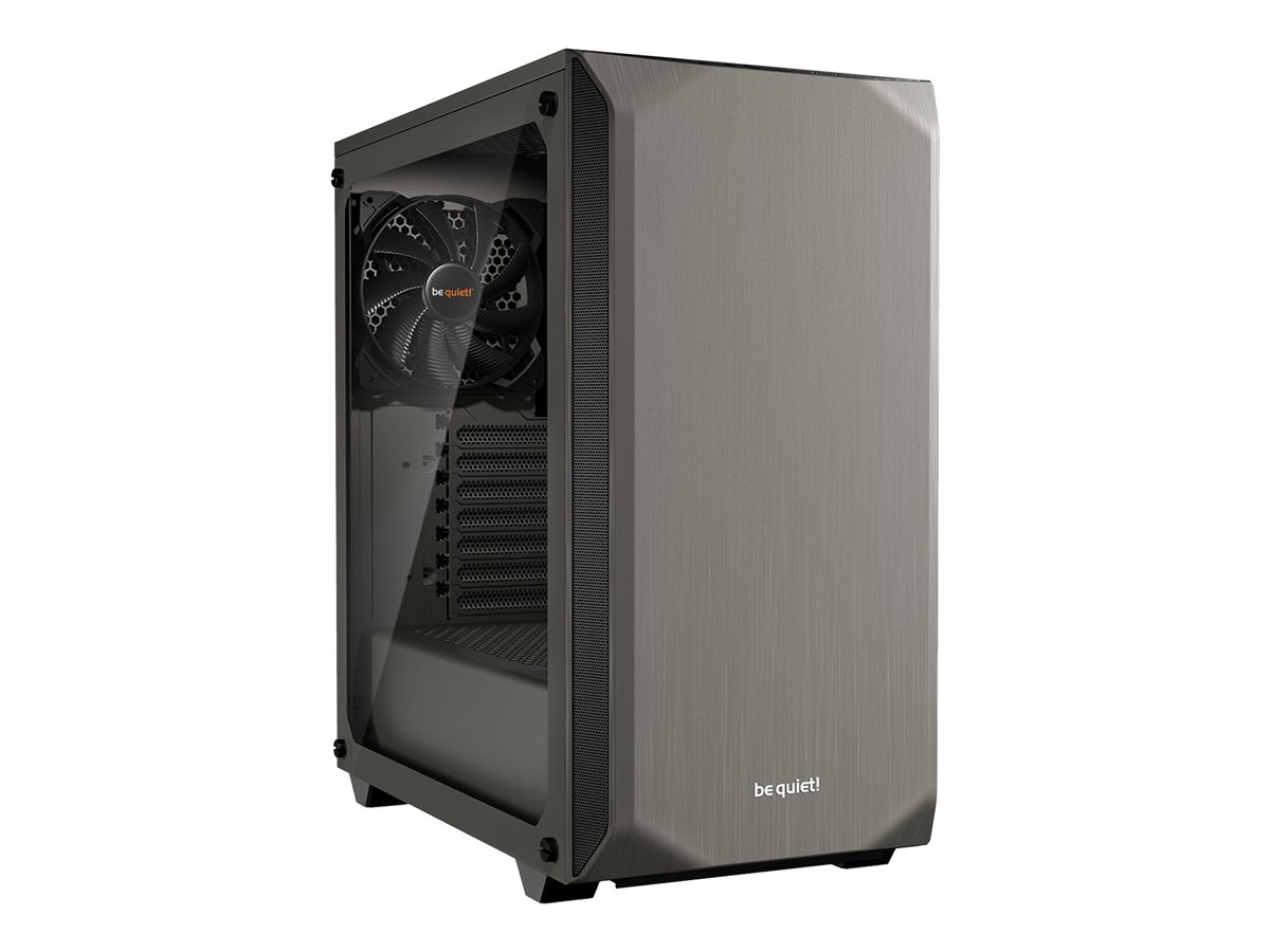 be quiet! Pure Base 500 Window - Tower - ATX - ohne Netzteil (ATX / PS/2) - metallisch grau - USB/Audio