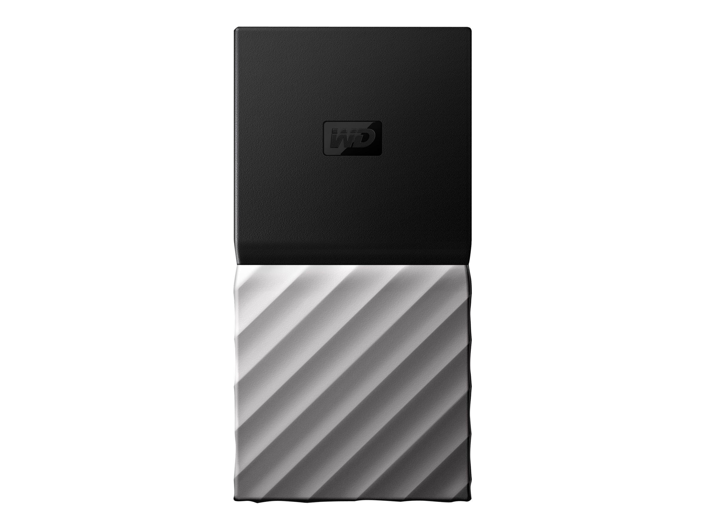 WD My Passport SSD WDBKVX0020PSL - Solid-State-Disk - verschlüsselt - 2 TB - extern (tragbar) - USB 3.1 Gen 2 (USB-C Steckverbin