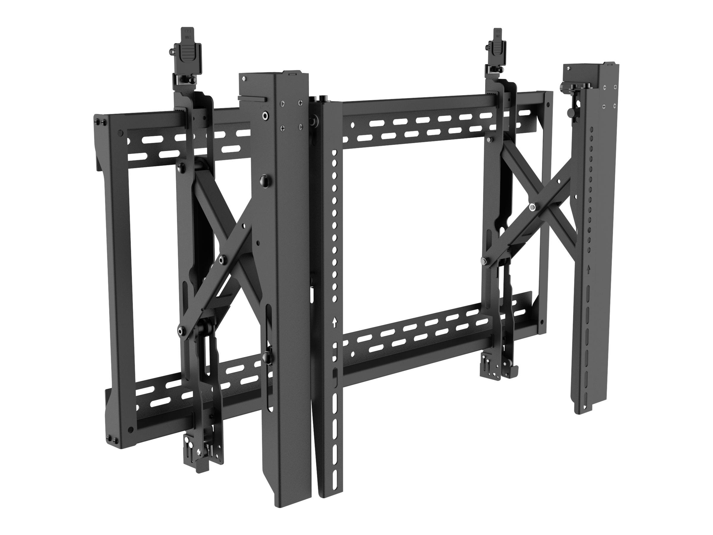Vision VFM-VW8X4 - Wandhalterung für LCD-Display - verriegelbar - Stahl - Schwarz - Bildschirmgrösse: 114.3-203.2 cm (45