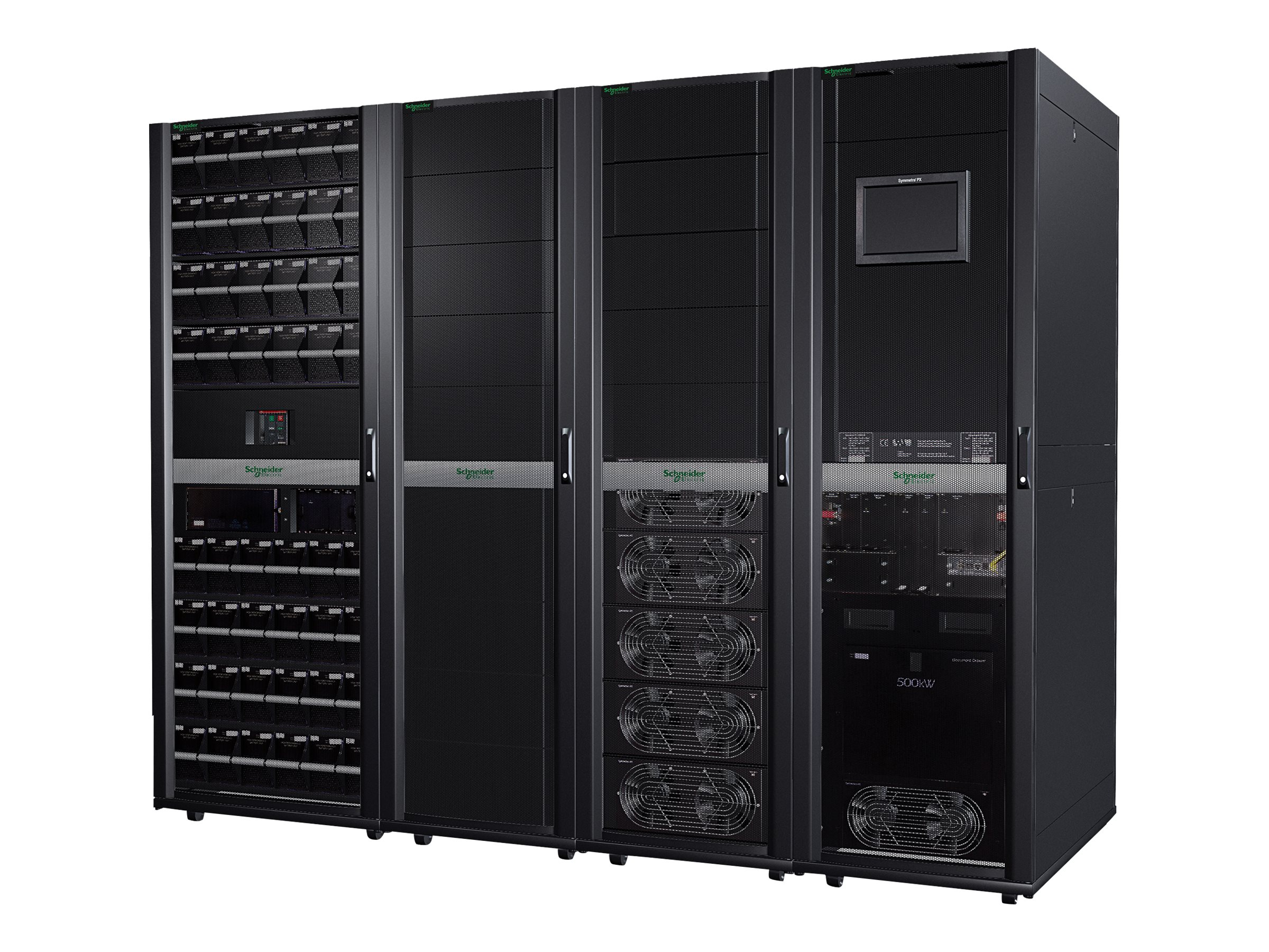 APC Symmetra PX 125kW Scalable to 500kW without Maintenance Bypass & Distribution-Parallel Capable - Strom - Anordnung - AC 400/