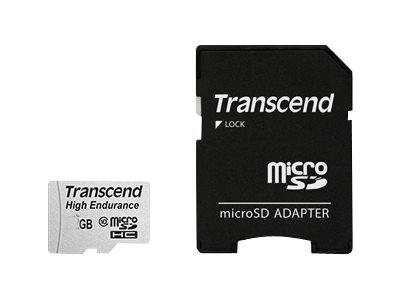 Transcend Hochbelastbare - Flash-Speicherkarte (microSDHC/SD-Adapter inbegriffen) - 16 GB - UHS-I U1 / Class10 - SDHC