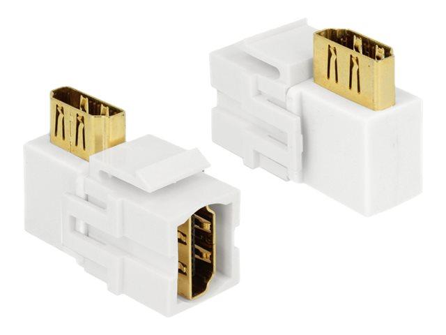 DeLOCK Keystone module - Modularer Einschub (Kopplung) - HDMI - weiss