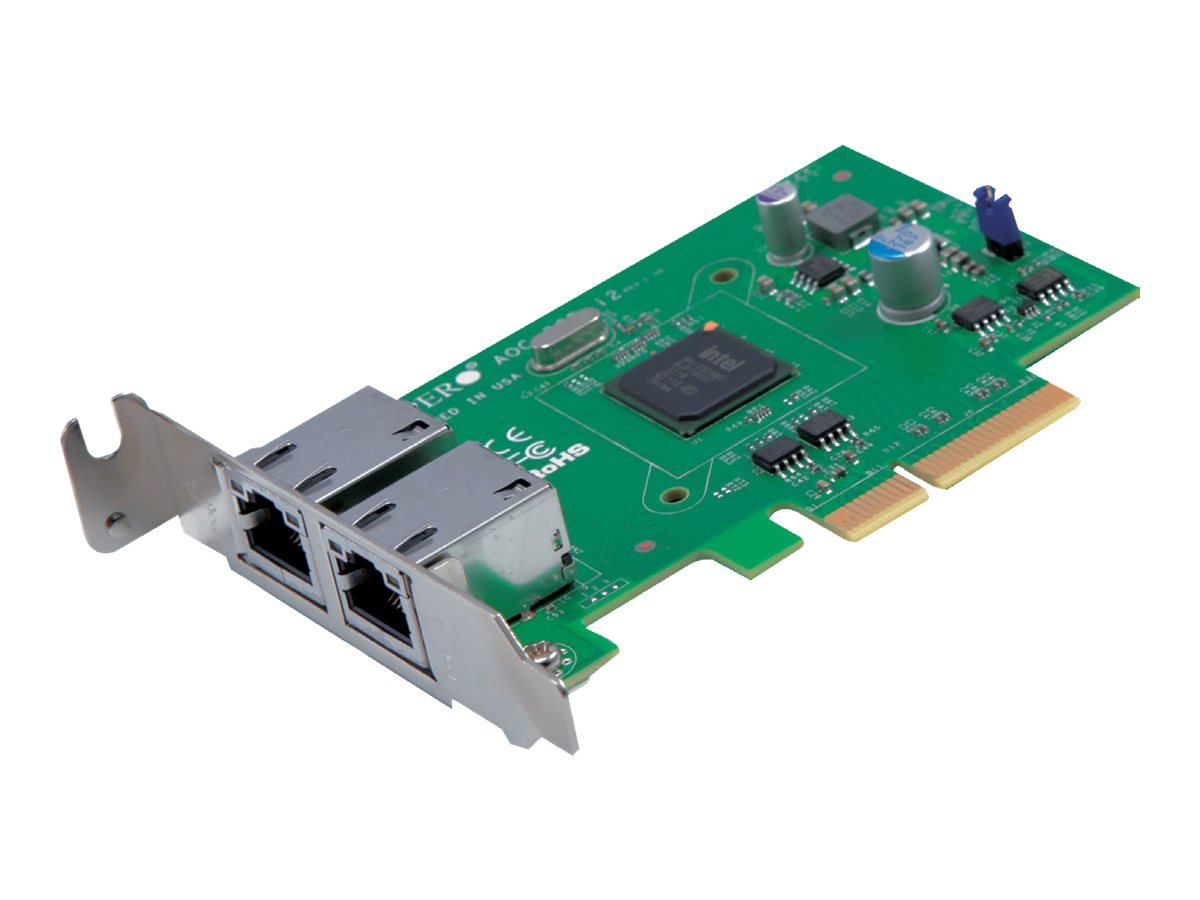 Supermicro Add-on Card AOC-SGP-i2 - Netzwerkadapter - PCIe 2.1 x4 Low-Profile - Gigabit Ethernet x 2