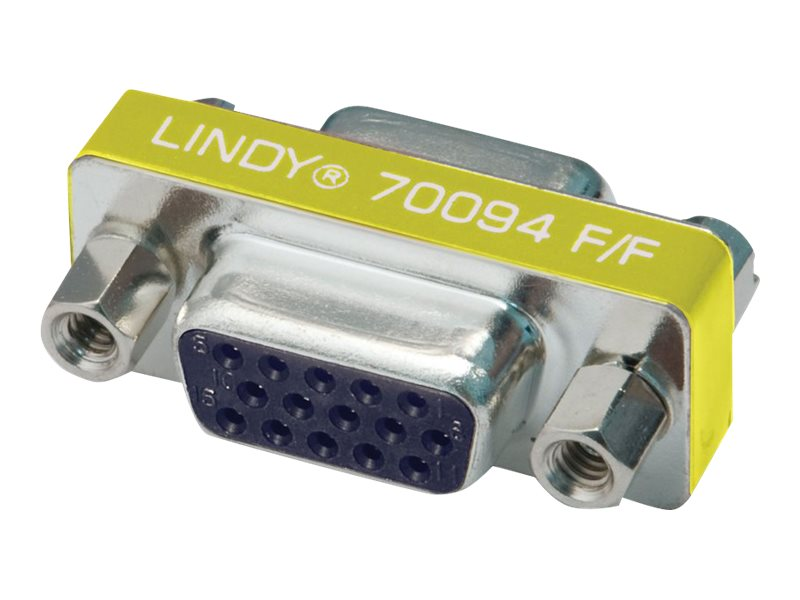 Lindy Mini Gender Changer - Invertieradapter - HD-15 (VGA) (W) bis HD-15 (VGA) (W)