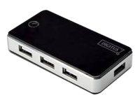 DIGITUS DA-70222 - Hub - 7 x USB 2.0 - Desktop