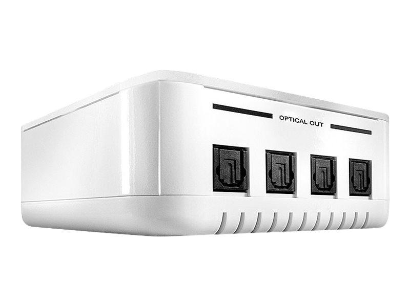 Lindy 4 Way TosLink Digital Optical Audio Splitter - Audio-Splitter - 4 x TOSLINK - Desktop